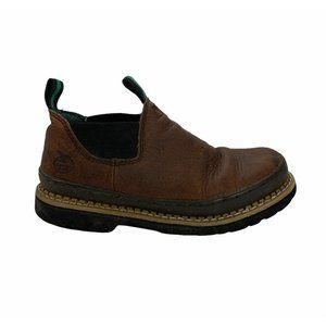 Georgia Boots Romeo Low Youth Size 6 Brown Slip On